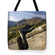 Merlon View Of The Great Wall 1037 Tote Bag