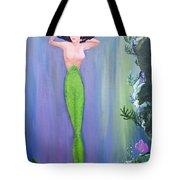 Mermaid And Treasure Chest  Tote Bag