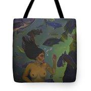 Mermaid At 52 Tote Bag