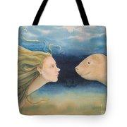 Mermaid Encounter Tote Bag