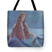 Mermaid In Moonlight Tote Bag