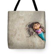Mermaid In The Sand Tote Bag