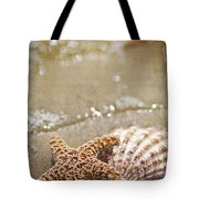 Mermaid Kisses And Starfish Wishes Tote Bag