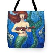 Mermaid Ukulele Angels Tote Bag