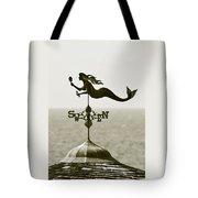 Mermaid Weathervane In Sepia Tote Bag by Ben and Raisa Gertsberg