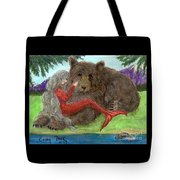 Mermaids Bear Cathy Peek Fantasy Art Tote Bag