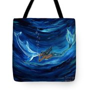 Mermaids Dolphin Buddy Tote Bag