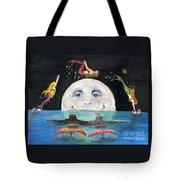 Mermaids Jumping Over Moon Cathy Peek Tote Bag