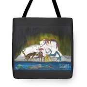 Mermaids Polar Bears Cathy Peek Fantasy Art Tote Bag