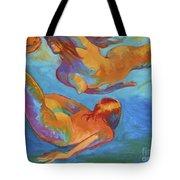 Mermaids Swimming Tote Bag