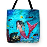 Mermaids Treasure Tote Bag