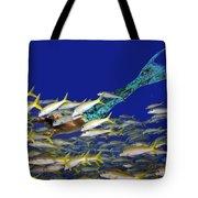 Merman Tote Bag by Paula Porterfield-Izzo