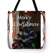 Merry Christmas - Greeting Card - Christmas Tree - Ribbons Tote Bag