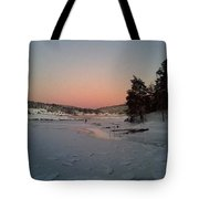A Christmas Card From The Wintry Sea  Tote Bag