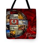 Merry Christmas Globe Tote Bag