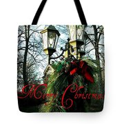 Merry Christmas Greeting Card Tote Bag