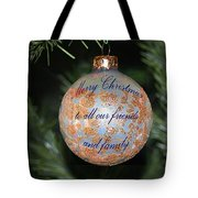 Merry Christmas Greetings Tote Bag