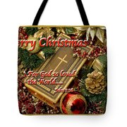 Merry Christmas - John 3 V16 Tote Bag