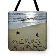 Merry Christmas Sand Art 5 12/25 Tote Bag