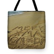 Merry Christmas Sand Art Mom And Dad 3 12/25 Tote Bag