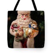 Merry Christmas Santa And Animals Tote Bag