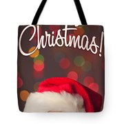 Merry Christmas Santa Card Tote Bag