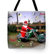 Merry Christmas  Seasons Greetings  Happy New Year Tote Bag