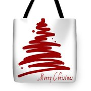 Merry Christmas Tree - Red Tote Bag