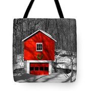 Merry Red Bw Tote Bag