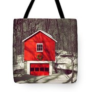 Merry Red Tote Bag