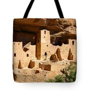 Mesa Verde National Park Cliff Palace Pueblo Anasazi Ruins Tote Bag