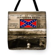 Mescalero Apace Truck Honoring Jefferson Davis Tucson Arizona Vignetted Color Added 2008 Tote Bag