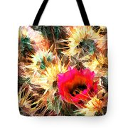 Mesh Of Cactus Needles Tote Bag