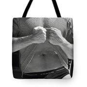 Mesh Shirt Black And White Tote Bag