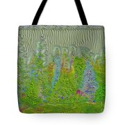 Meshed Tree Abstract Tote Bag