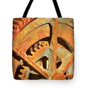 Meshing Gears Tote Bag by Phyllis Denton