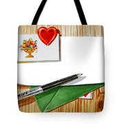 Message From The Heart Tote Bag