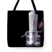 Message In A Bottle Concept Tote Bag