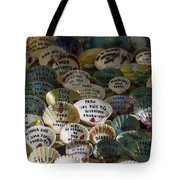 Messages On Shells Tote Bag
