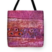 Metal Abstract Pink Tote Bag