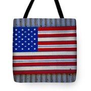 Metal American Flag Tote Bag