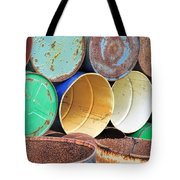 Metal Barrels 2 Tote Bag