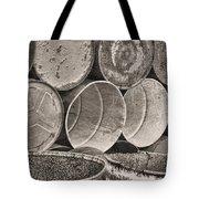 Metal Barrels 2bw Tote Bag