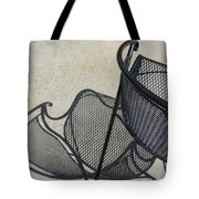 Metal Chair And Shadow 5 Tote Bag