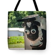 Metal Cow On Farm Tote Bag