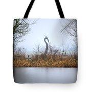 Metal Heron Tote Bag