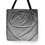 Metal Rose Tote Bag