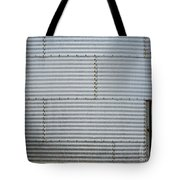 Metal Silo With Door Tote Bag