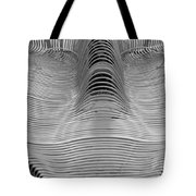 Metal Strips In Balck And White Tote Bag