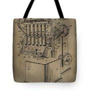 Metal Working Machine Patent Tote Bag